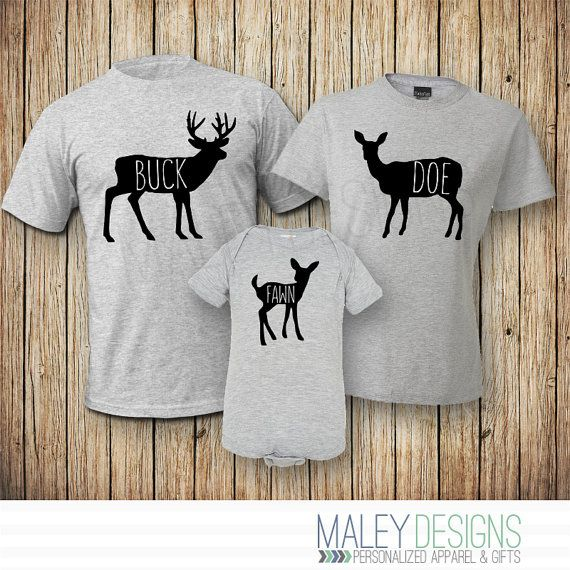 """HIS AND HERS SET IDEA - """"BUCK & DOE"""" (could also be a deer head silhouette.  The """"Fawn"""" is a cute sippy idea too)"""