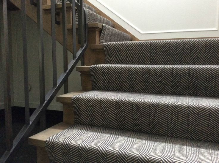 Cavalcanti Stair Runner In Herringbone Design Flatwoven