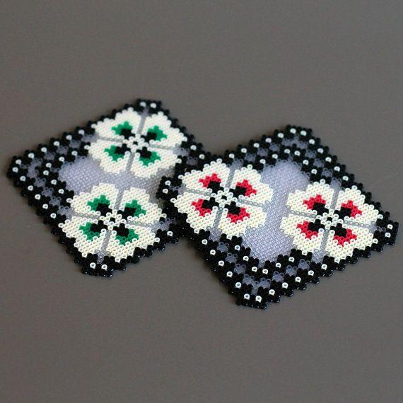 Dessous de verre fait main MILLIERS de perles par Leminussieu