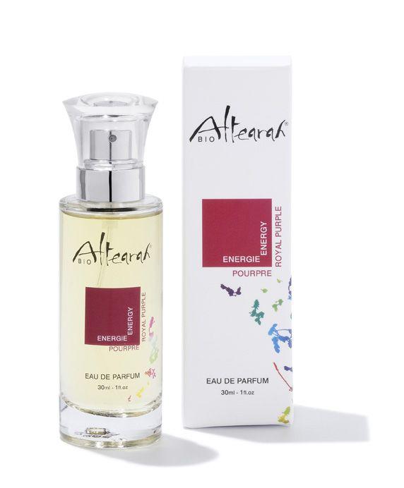 Eau de Parfum Pourpre  A conseiller pour purifier retrouver son énergie, améliorer son humeur, réparer les conséquences du stress.  #parfum #bio #pourpre #chromotherapie #cosmetiquebio #altearah