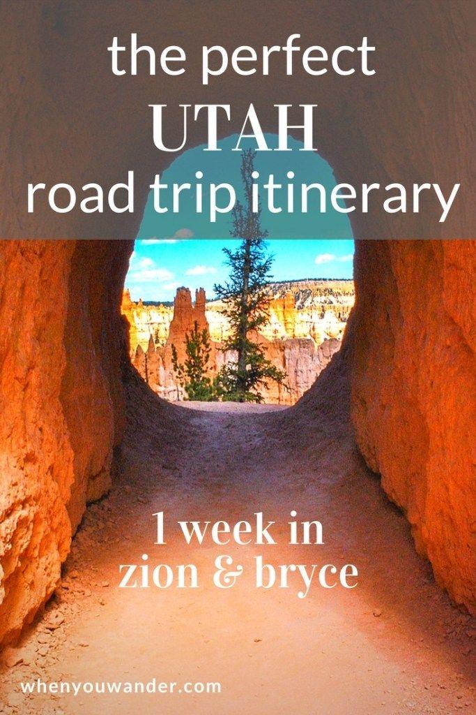 Itinerário de Utah Road Trip – 1 semana nos Parques Nacionais de Zion e Bryce Canyon   – 2020