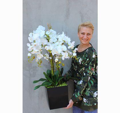 sztuczny storczyk z najwyższej jakości kwiatów tenDOM