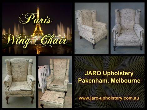 Paris Wing Chairs by JARO Upholstery, Pakenham, Melbourne