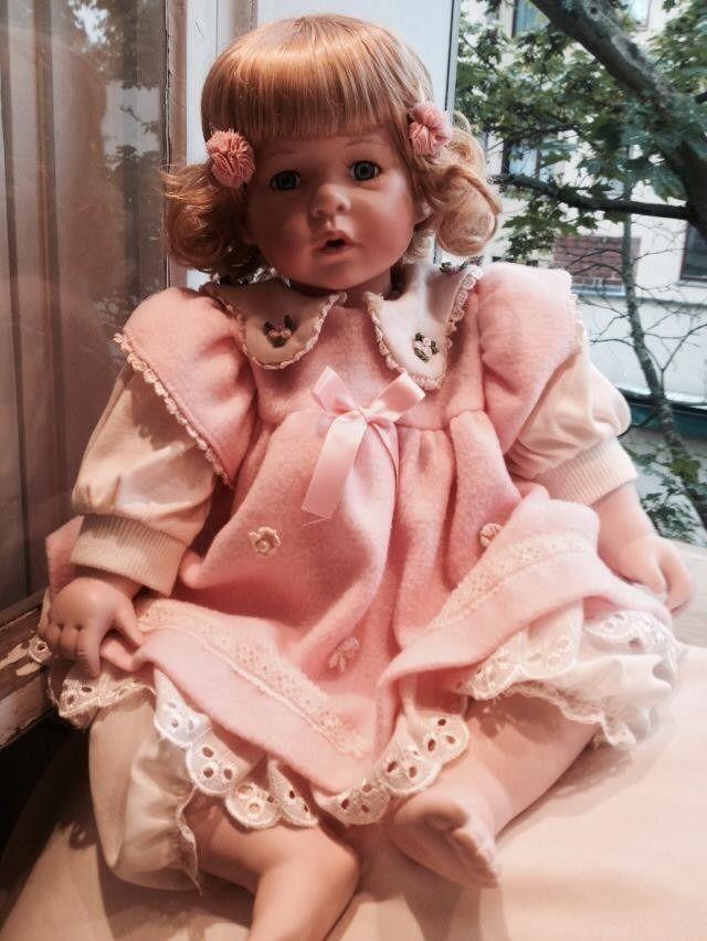 Linda Boneca Antiga De Porcelana Alemã - Parece Um Bebê!! - R$ 230,00 no MercadoLivre