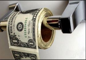 O mistério do dinheiro encontrando no supermercado