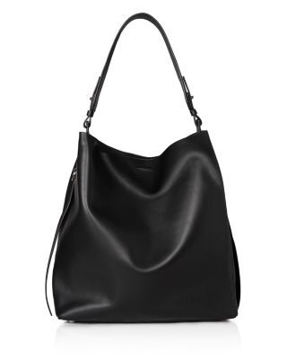 Gorgeously crafted of supple, ethically-sourced calf leather, this Allsaints tote has a graceful drape that feels effortlessly cool and modern. | Cow leather | Wipe clean | Imported | Adjustable shoul