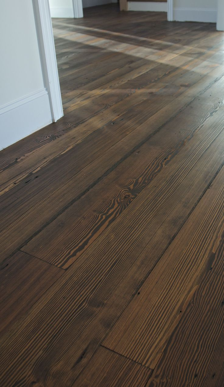 Havens South Designs :: Loves This Heart Pine Flooring Shown With A Dark