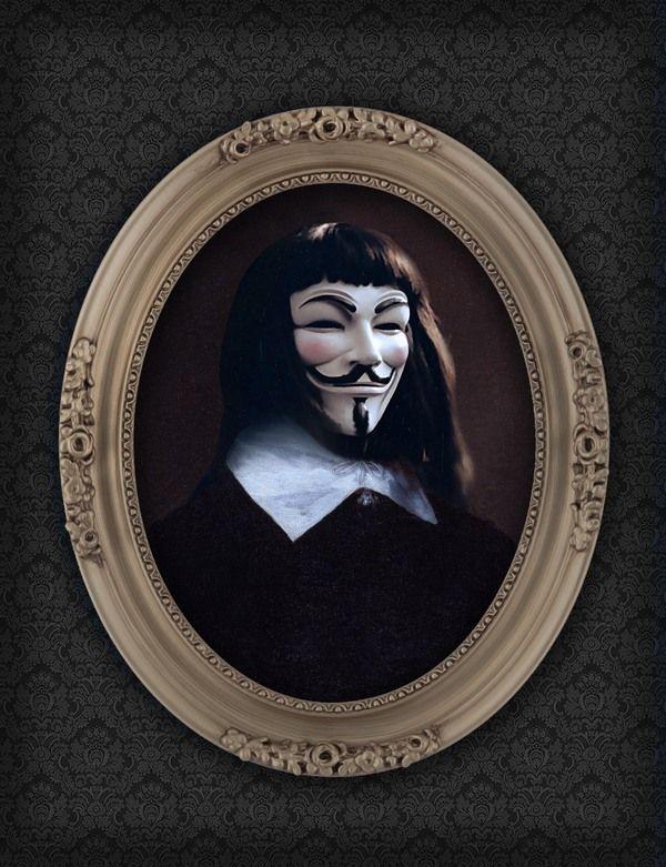 Superhero Oil Paintings V for Vendetta