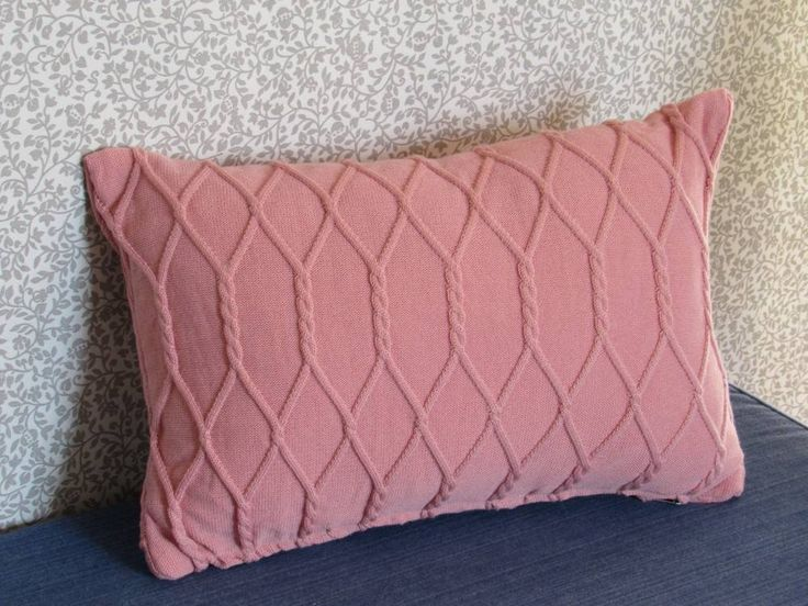 Twisted Cable Cushion - Pink