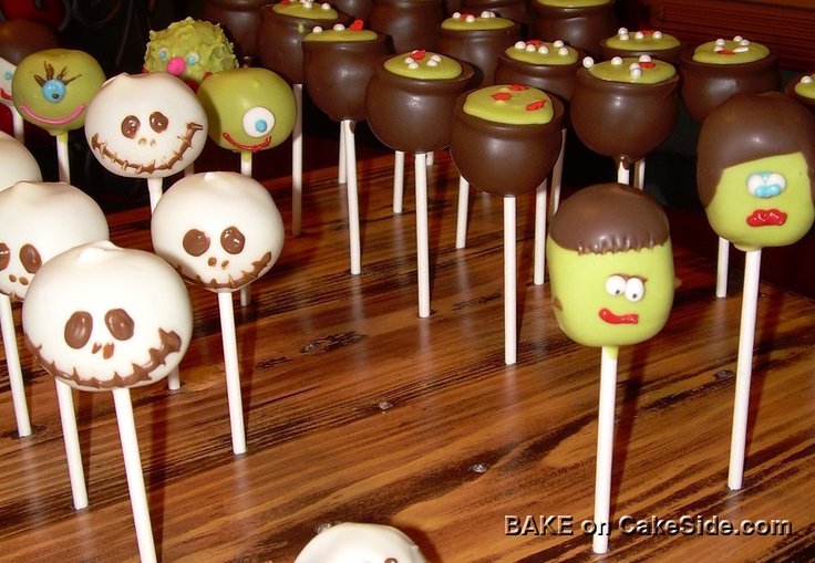 CakeSide - Halloween Cake Pops submitted by Alicia Brown on www.cakeside.com!