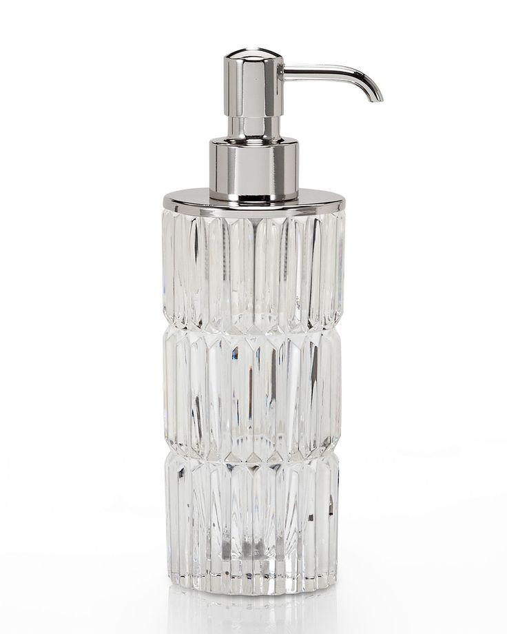 prisma clear soap dish pumpingneiman marcuscrystalshipssoap dispensersbathroom accessorieslotionvanitiesmiami