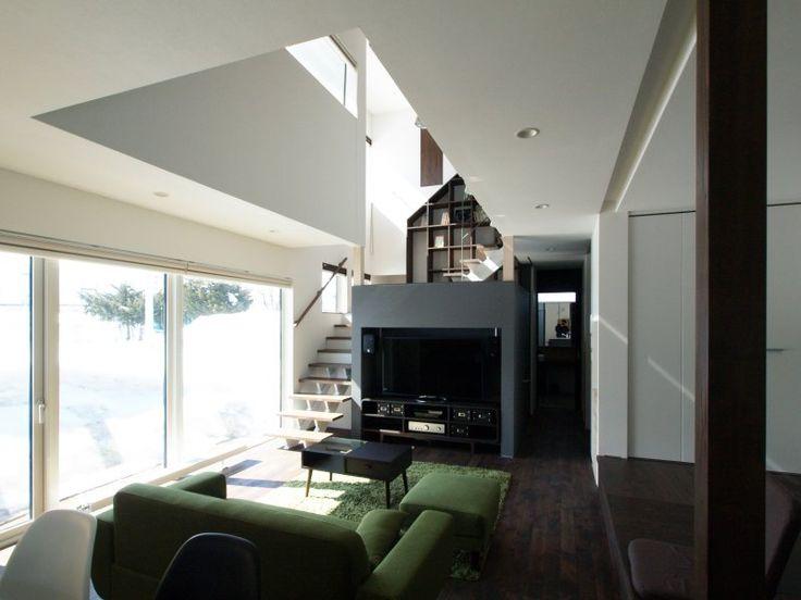 富谷洋介建築設計 | 「 中二階が繋ぐ家 」一般住宅設計/富谷洋介 | 北海道 | 建築家WEB|japan architects