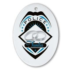 Police Families Logo* Ornament (Oval)> Police Families Logo> National Police Wives Association