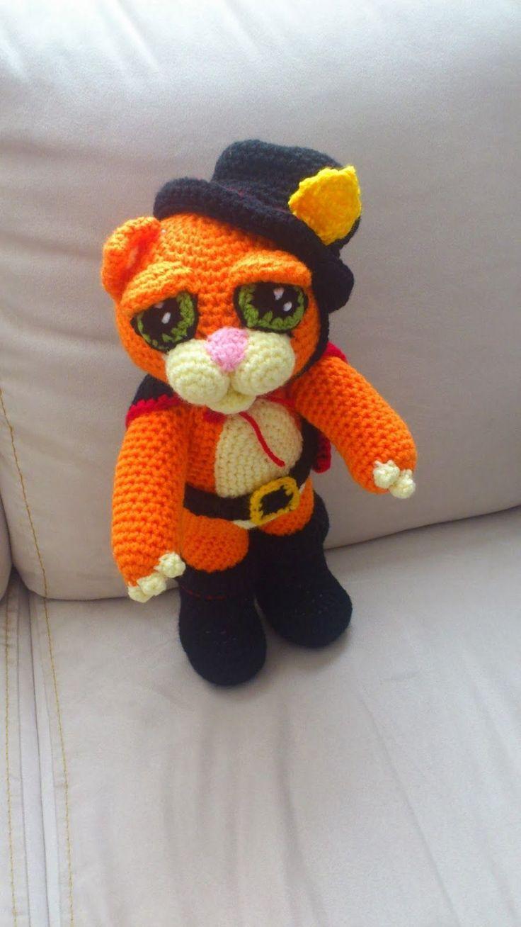 Patrón de este encantador y embaucador gato con botas. Te encantara tejerlo, instrucciones completamente en español. Patrón del tierno y pícaro gato con botas en amigurumi. Gardield patrón amigurumiMuñeca amigurumi Soft kittyLa patrulla canina en amigurumiOso panda amigurumiSuper héroes amigurumiAmigurumi de Hatsune MikuBaymax, Big hero 6Mini Peppa Pig amigurumiEl Yeti en AmigurumiPeppa Pig …