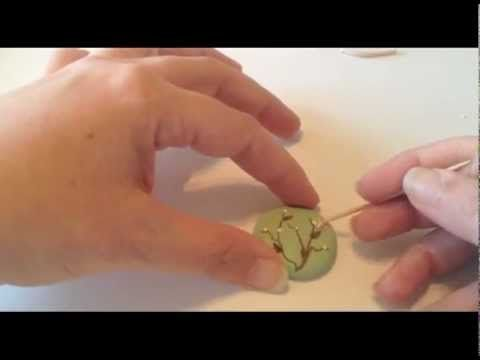 ▶ How To Make a Wild Flower Clay Pendant - YouTube by LaBohemeDesigns