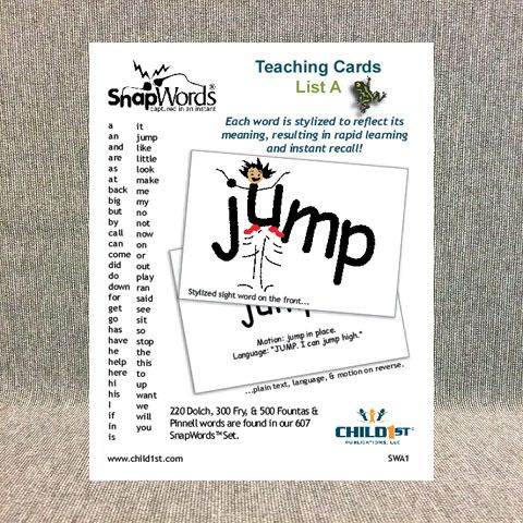 SnapWords® List A Teaching Cards