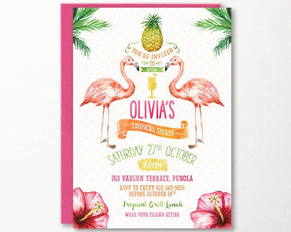 17 Best ideas about Beach Party Invitations – Tropical Birthday Invitations