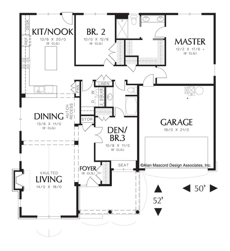 Mascord house plan 1153 traditional cars and home House plans mascord