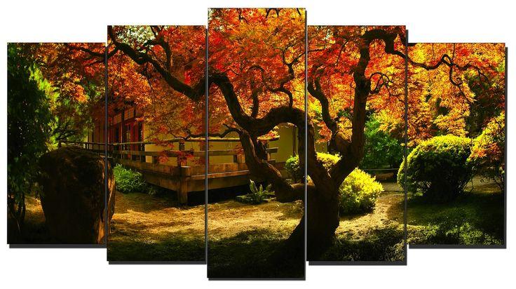 Cuadro paisaje jard n japon s estilo zen lienzo 5 - Cuadros estilo zen ...