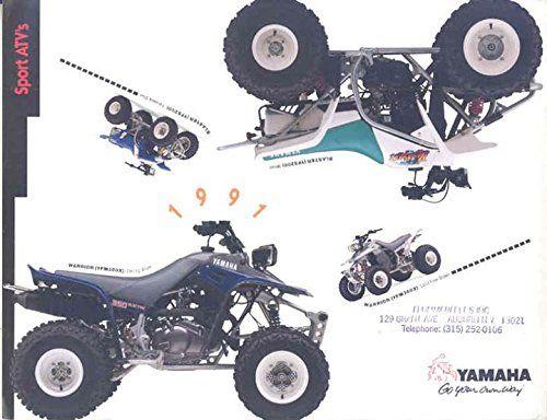 Print Art Poster 1991 Yamaha Warrior Yfm350x 350 Blaster Yfs200 200 Atv Brochure Yamaha Warrior Poster Art