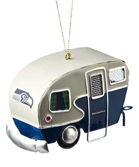 #Seattle #Seahawks #Team #Camper #Christmas  #Ornament | #zulily