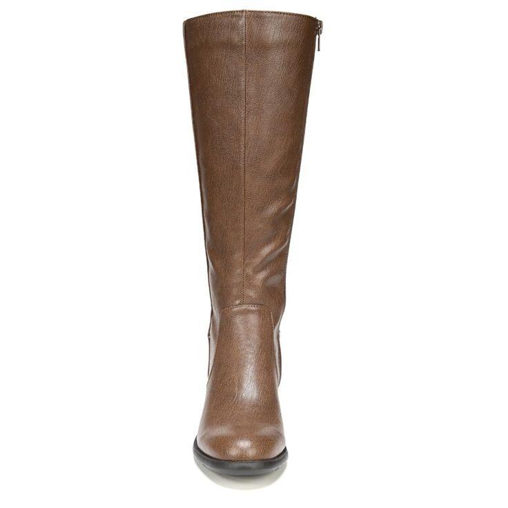Lifestride Women's Xandy Narrow/Medium/Wide Riding Boots (Dark Tan)
