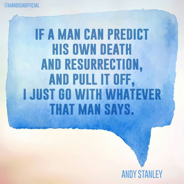 Jesus resurrection go with Him andy stanley