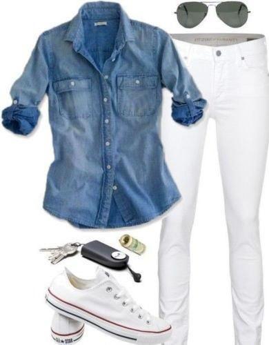 New Style in Autumn 2017 Retro Fashion Women Casual Blue Denim Long Sl – rodew…