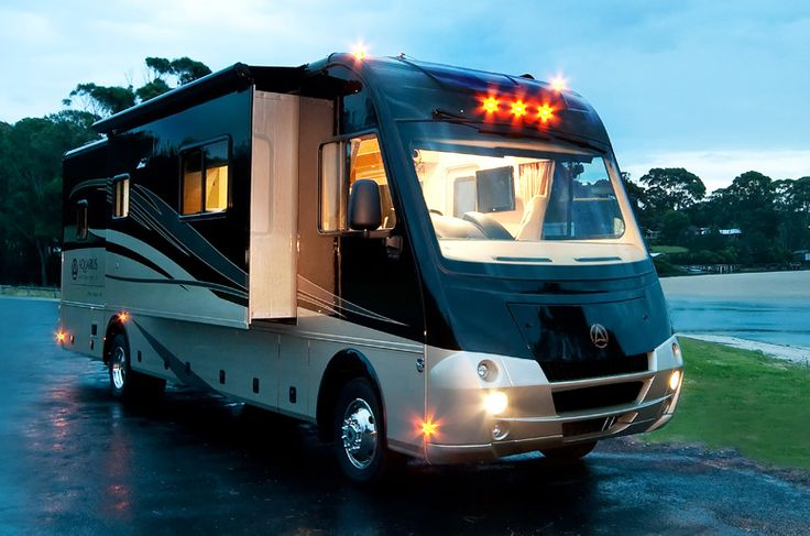 116 best dream garage rv 39 s campers images on pinterest for Rv with car garage for sale