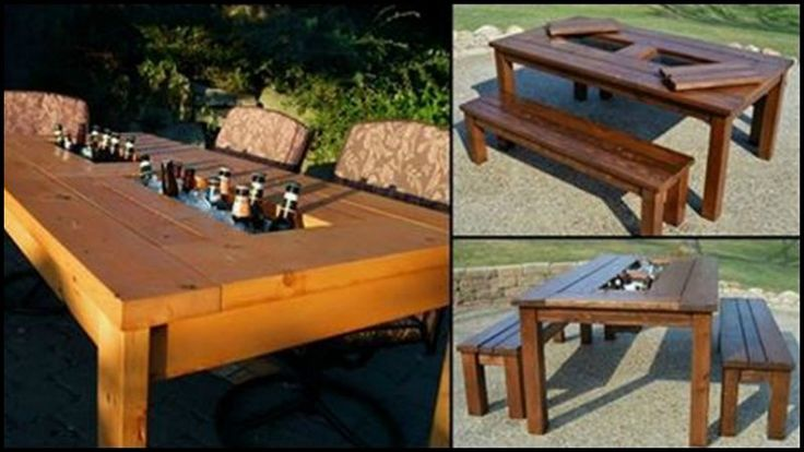 DIY Patio Table with Built-in Beer/Wine Coolers | The Owner ...