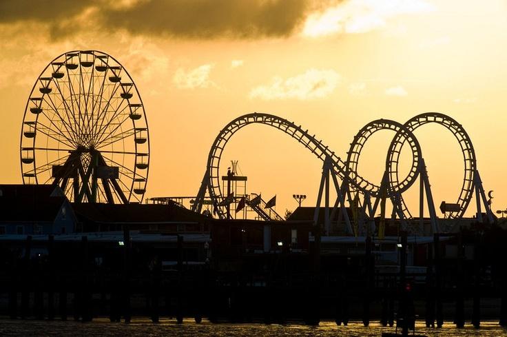 Jolly Roger's Amusement Park Ocean City, Md - That ferris wheel was cool, but a little terrifying since it was so windy
