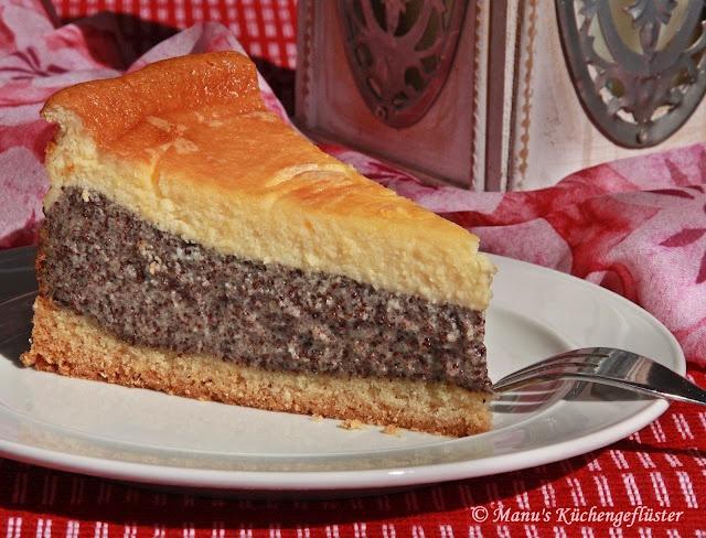Mohnkuchen mit Schmandguß