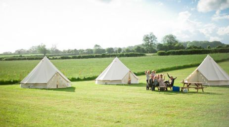 Glamping in a Bell Tent at Home Farm Camping Dorset