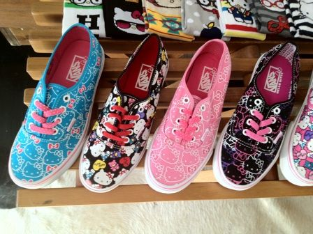 I must have some Hello Kitty Vans. Too cute.