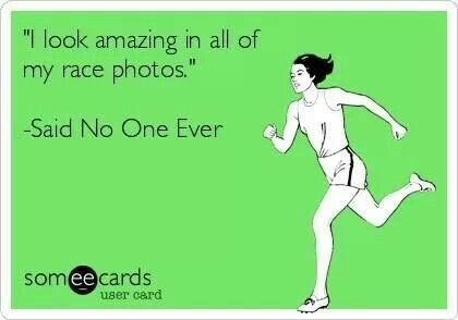 Said no runner ever. I look like I'm boring a death hole through the guy in front of me.