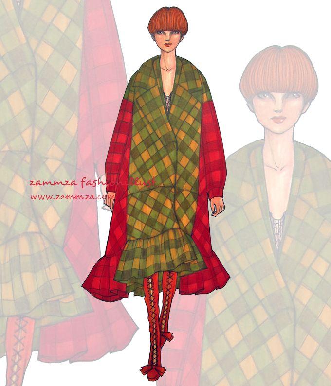 2016 fw COLLECTION ♥ watercolor+marker+colorpencil ♥ zammza fashion illustration ♥ instagram.com/zammza
