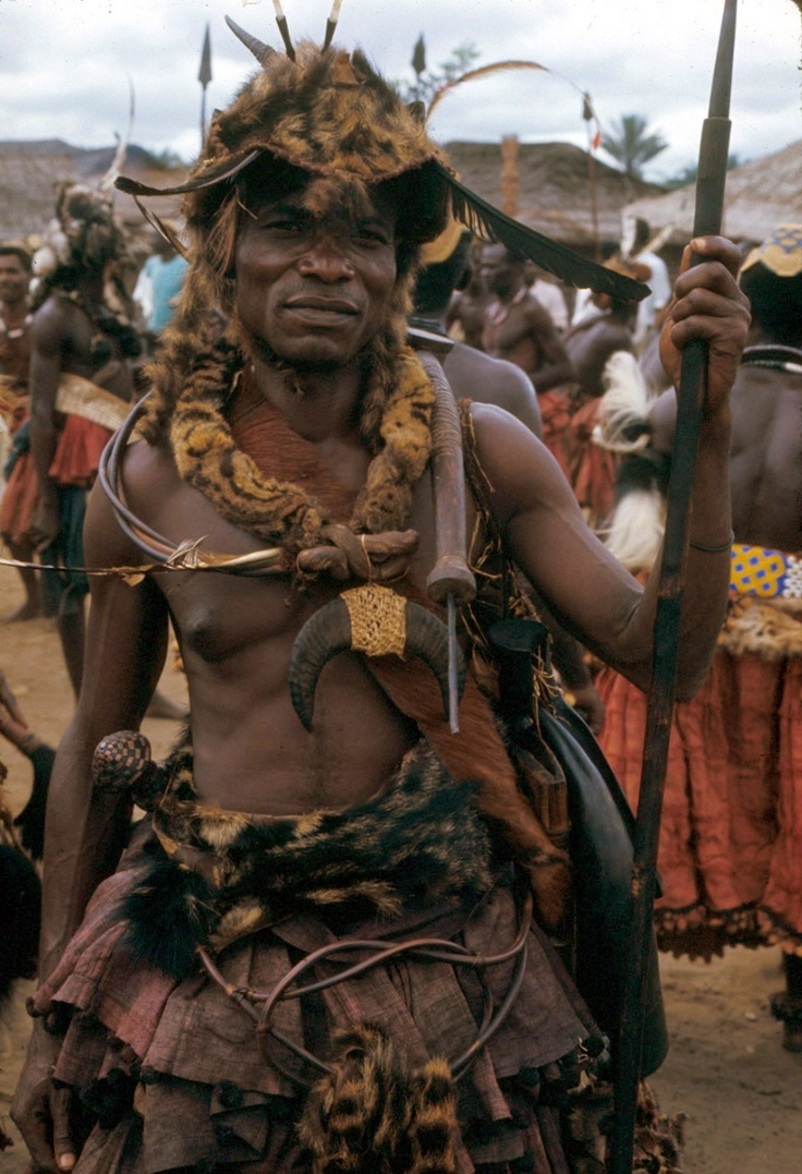 Africa Map Congo River%0A Africa   Kuba warrior dressed for the state visit of the Nyim  ruler  Kot