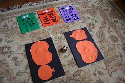 Pink and Green Mama: Homemade Felt Pumpkin Game