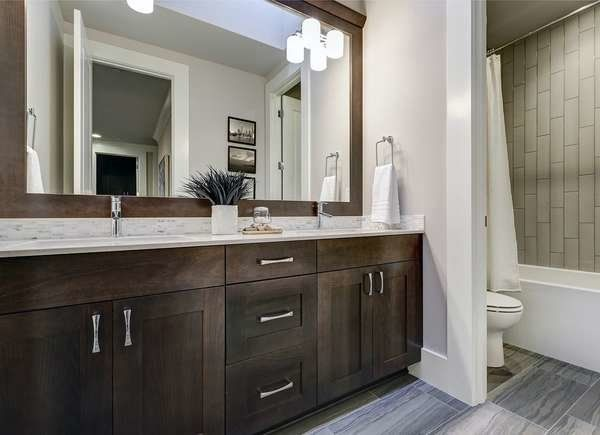 10 Projects To Do If You Plan To Sell Your Home This Year In 2020 Bathrooms Remodel Brown Bathroom Bathroom Vanity