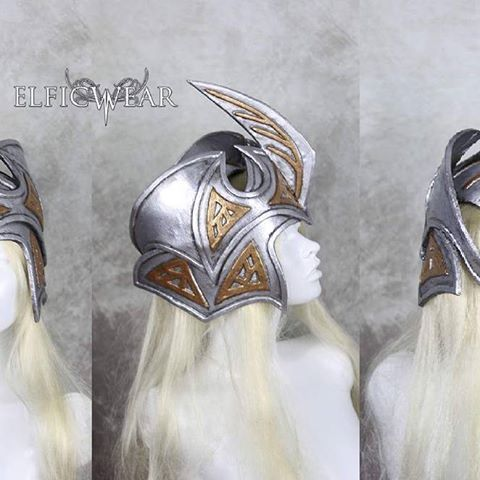 You can see here better the Elven Helm I've made. It can be found for sale on my etsy, link in bio. www.elficwearshop.etsy.com  #elficwear #angelicaelfic #elf #elven #helm #helmet #lotr #lordoftherings #larp #larpers #cosplay #fantasy #warrior #battle #handmade #silver #armour #armor #dwarf #knight #highfashion #medieval #worbla #etsy #etsyseller