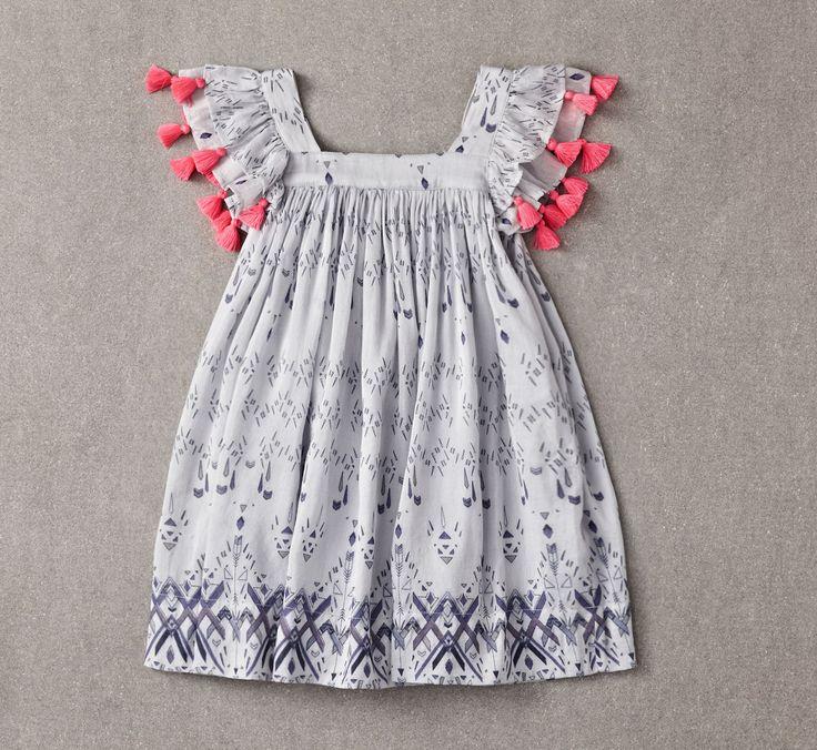 Nellystella Chloe Dress Tribal Print // PoppysCloset.com #girls #dresses
