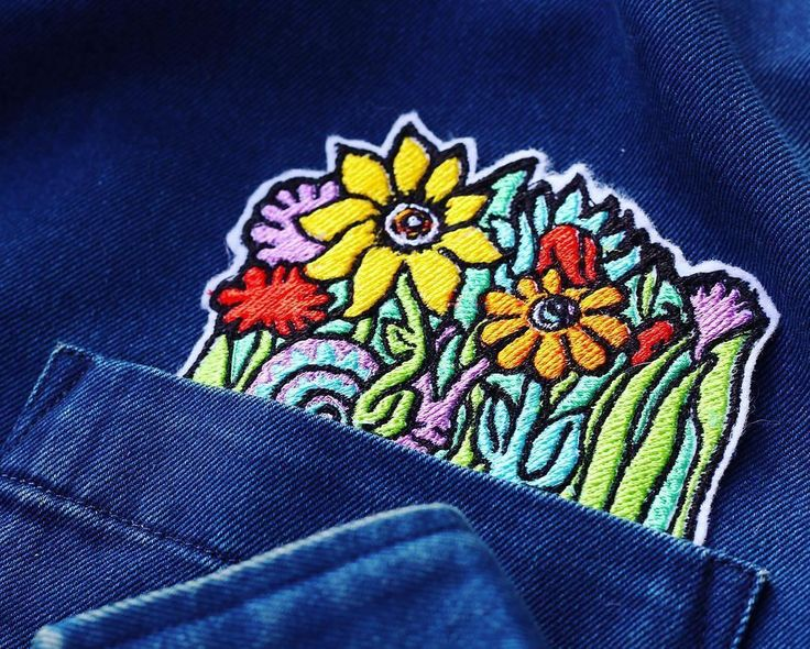 #Repost @eldowho Secret Pocket Garden iron-on $11 eldowho.etsy.com #pocket #pocketpatch #patch #patchgame #pin #pingame #illustration #etsyseller #crafty #embroidery #machineembroidery #digitize #digitalart #wearableart #ironon #denim #lisafrank #90s #90sfashion #illustrator #embroider #sewing #psychedelicart #trippyart #psychedelia #lowbrowart #popart (Posted by https://bbllowwnn.com/) Tap the photo for purchase info. Follow @bbllowwnn on Instagram for more great pins!