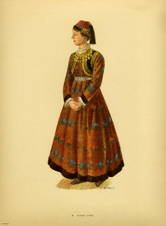 Φορεσιά Σιάτιστας. Costume from Siatista. Collection Peloponnesian Folklore Foundation, Nafplion. All rights reserved.