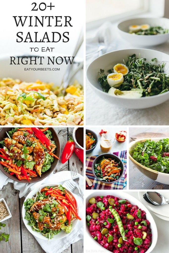 A bright, beautiful & healthy idea! Ready to rock your new year recipe resolutions? Check out these 20+ colorful winter salads to eat right now!
