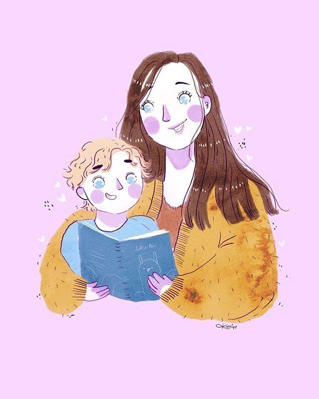 Custom Illustration Cute Kawaii Family Portrait Family Art Print Custom Illustration Family Art Print Illustration