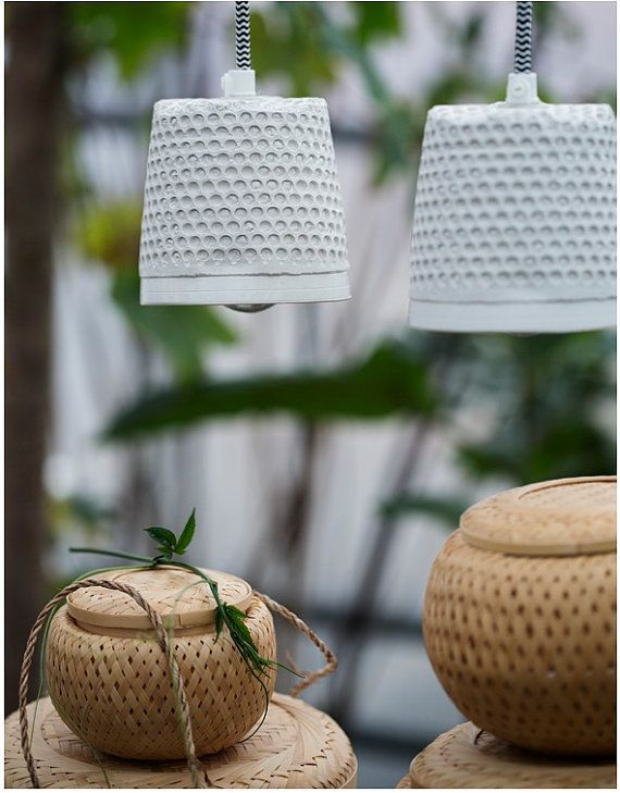 Muda Handmade hanging lamps made from plaster. By HolsenDesign, Dkr 299.00  on www.etzy.com