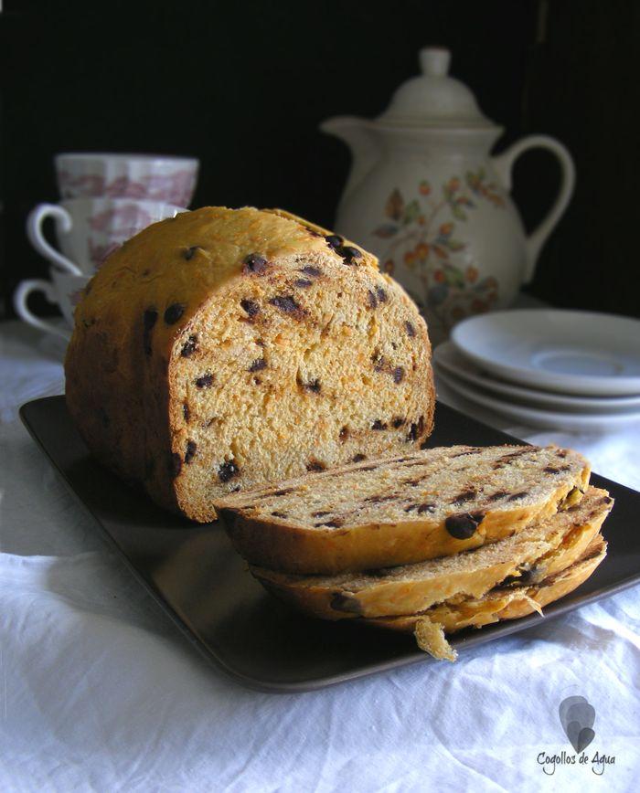Carrot and chocolate bread - PAN DE ZANAHORIA Y CHOCOLATE {Panificadora} {#wbd2014} - Cogollos de Agua