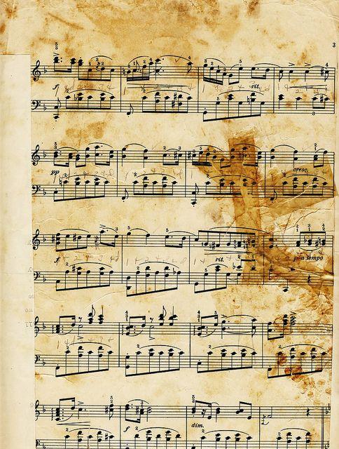 Free vintage music collage sheet