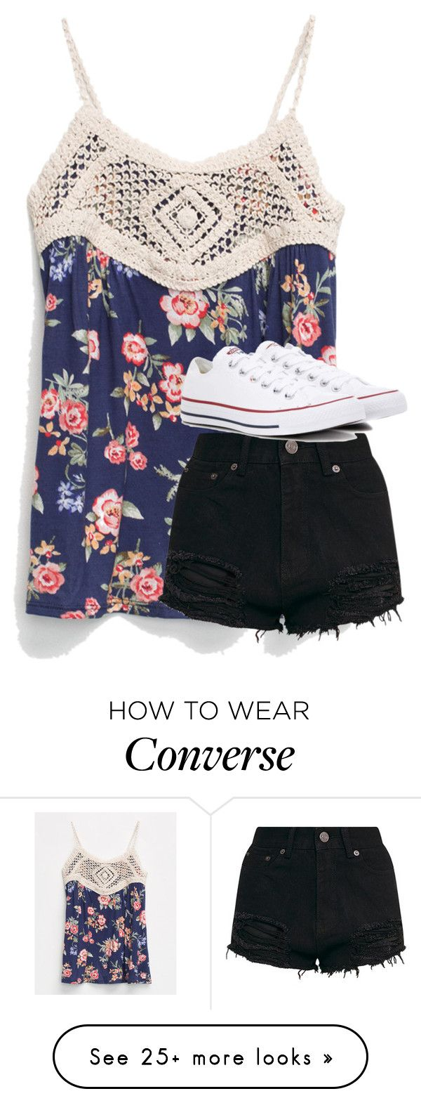 """""""Untitled #3881"""" by laurenatria11 on Polyvore featuring Full Tilt and Converse"""