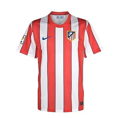 11/12 Atletico Madrid Home Red And White Soccer Jersey Shirt Replica
